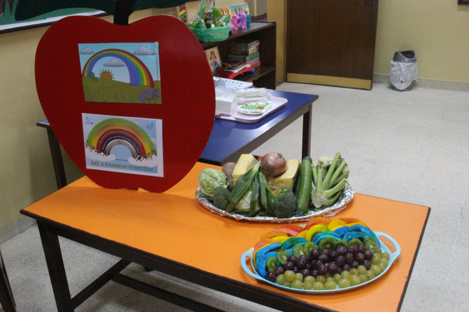 Grade 1 students learn about the Food Rainbow
